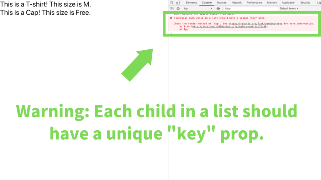 "Warning: Each child in a list should have a unique ""key"" prop"